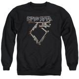 Twisted Sister Bone Logo Adult Crewneck Sweatshirt Black