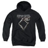 Twisted Sister Bone Logo Youth Pullover Hoodie Sweatshirt Black