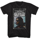 Escape From New York Book Black Adult T-Shirt