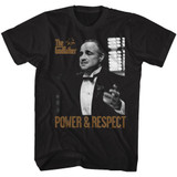 Godfather Power Respect Black Adult T-Shirt