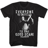 Halloween One Good Scare Black Adult T-Shirt