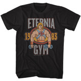 Masters Of The Universe He Man Gym Black Adult T-Shirt