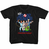 The Real Ghostbusters Group 3 Black Toddler T-Shirt