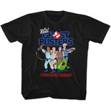 The Real Ghostbusters Group 3 Black Youth T-Shirt