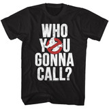 The Real Ghostbusters Gonna Call Black Adult T-Shirt
