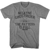 Top Gun Negative Ghostrider Graphite Heather Adult T-Shirt