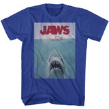 Jaws Poster Royal Adult T-Shirt