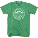 CBGB CBGB Circle Kelly Heather Adult T-Shirt