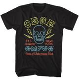 CBGB Neon Sign Black Adult T-Shirt