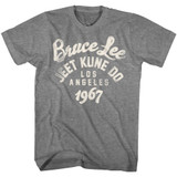 Bruce Lee Be Water '67 Graphite Heather Adult T-Shirt