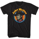 John Wayne Vintage JW Black Adult T-Shirt