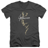 Jane's Addiction Inside Escape Adult V-Neck T-Shirt Charcoal