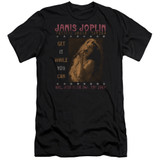 Janis Joplin One Night Only Premium Adult 30/1 T-Shirt Black