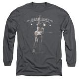 Jeff Beck Guitar God Long Sleeve Adult T-Shirt Charcoal