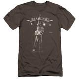 Jeff Beck Guitar God Premuim Canvas Adult Slim Fit T-Shirt Charcoal