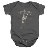 Jeff Beck Guitar God Baby Onesie T-Shirt Charcoal