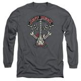 Jeff Beck Beckabilly Guitar Long Sleeve Adult T-Shirt Charcoal