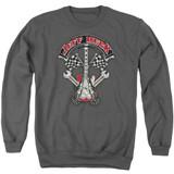 Jeff Beck Beckabilly Guitar Adult Crewneck Sweatshirt Charcoal