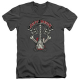 Jeff Beck Beckabilly Guitar Adult V-Neck T-Shirt Charcoal