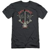 Jeff Beck Beckabilly Guitar Adult 30/1 T-Shirt Charcoal