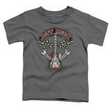 Jeff Beck Beckabilly Guitar Toddler T-Shirt Charcoal