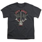 Jeff Beck Beckabilly Guitar Youth T-Shirt Charcoal