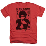 Jimi Hendrix London 1966 Adult Heather T-Shirt Red
