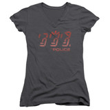 The Police Ghost In The Machine Junior Women's T-Shirt V Neck Charcoal