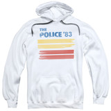 The Police 83 Adult Pullover Hoodie Sweatshirt White