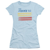 The Police 83 S/S Junior Women's T-Shirt Sheer Light Blue