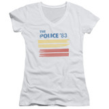 The Police 83 Junior Women's T-Shirt V Neck White