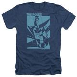 The Police Message In A Bottle Adult Heather T-Shirt Navy