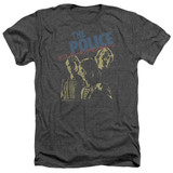 The Police Japanese Poster Adult Heather T-Shirt Charcoal