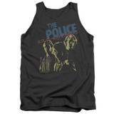 The Police Japanese Poster Adult Tank Top Charcoal
