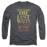 The Band The Last Waltz Long Sleeve Adult 18/1 T-Shirt Charcoal