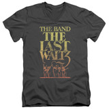 The Band The Last Waltz S/S Adult V Neck 30/1 T-Shirt Charcoal