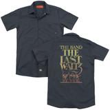 The Band The Last Waltz (Back Print) Adult Work Shirt Charcoal