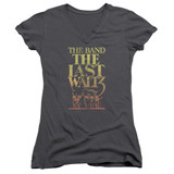 The Band The Last Waltz Junior Women's T-Shirt V Neck Charcoal