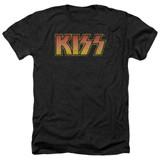 Kiss Classic Adult Heather T-Shirt Black