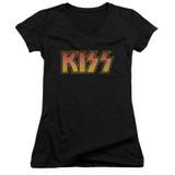 Kiss Classic Junior Women's V-Neck T-Shirt Black