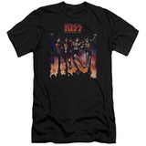 Kiss Destroyer Cover Adult 30/1 T-Shirt Black