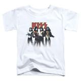 Kiss Throwback Pose Toddler T-Shirt White