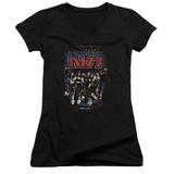 Kiss Destroyer Junior Women's V-Neck T-Shirt Black
