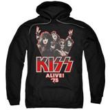 Kiss Alive 75' Adult Pullover Hoodie Sweatshirt Black
