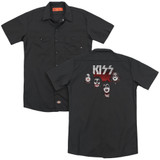 Kiss 1974 (Back Print) Adult Work Shirt Black