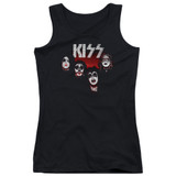 Kiss 1974 Junior Women's Tank Top T-Shirt Black