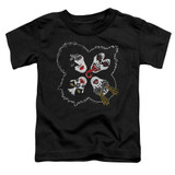 Kiss Rock And Roll Heads Toddler T-Shirt Black
