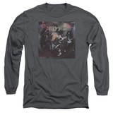 Kiss Alive! Adult Long Sleeve T-Shirt Charcoal
