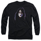 Kiss Ace Frehley Cover Adult Long Sleeve T-Shirt Black