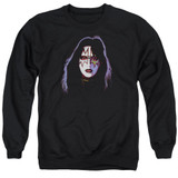 Kiss Ace Frehley Cover Adult Crewneck Sweatshirt Black